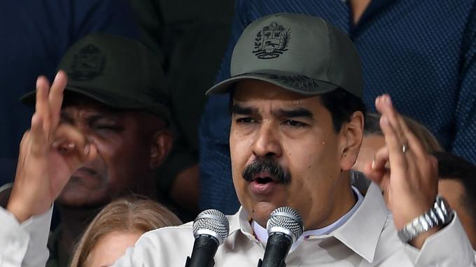 委內瑞拉總統Nicolas Maduro。(圖:AFP)