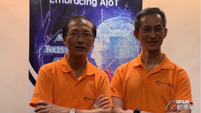 晶心科總經理林志明(左)。(鉅亨網記者林薏茹攝)