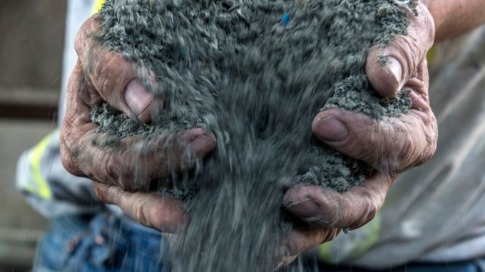 水泥示意圖。(圖:AFP)
