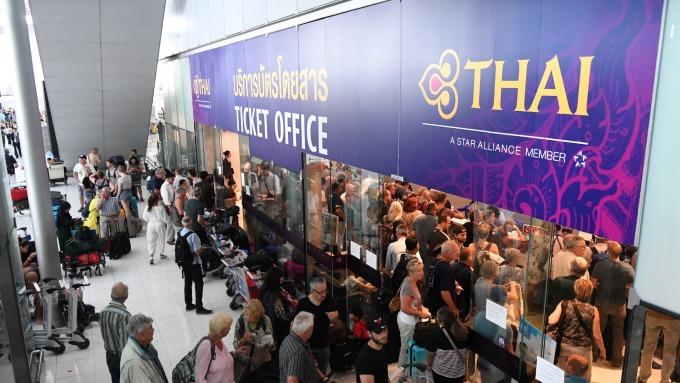 泰國延長21國落地簽免費至今年10月底。(圖:AFP)