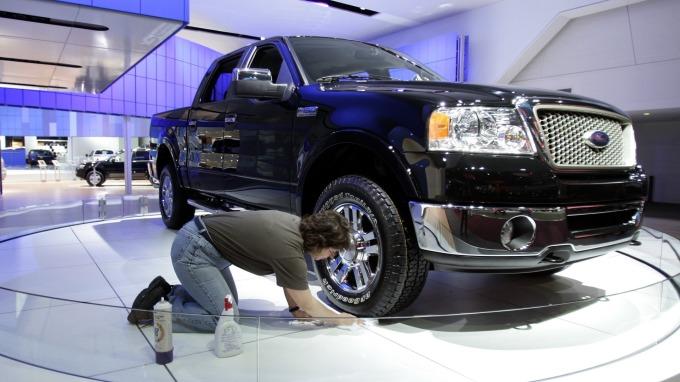 靠北美卡車銷售隻手撐天 福特汽車獲利優於預期。(圖:AFP)