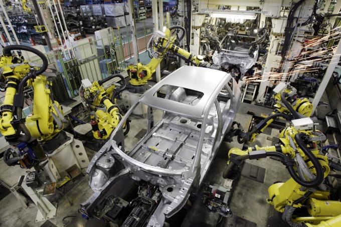 日本汽車產量出現衰退 (圖: AFP)