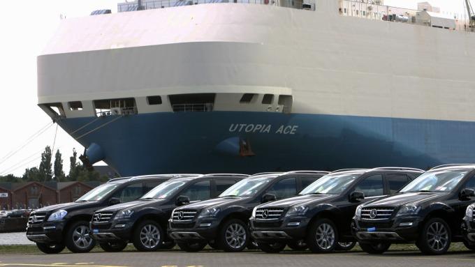 川普對歐洲進口車加徵關稅 引發德國經濟衰退擔憂。(圖:AFP)