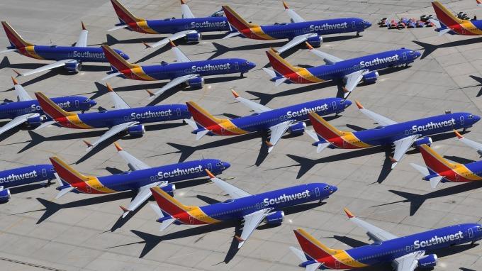 波音737 Max機型遭停飛至今 已造成航空業損失近6億美元。(圖:AFP)