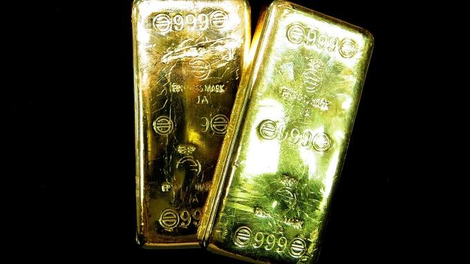 黃金淨多倉創5個月新低。(圖:AFP)