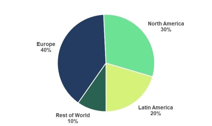 Spotify訂閱用戶全球分布(圖:Spotify/BusinessWire.com)