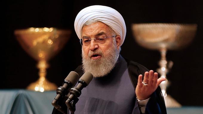 伊朗總統Hassan Rouhani。(圖:AFP)