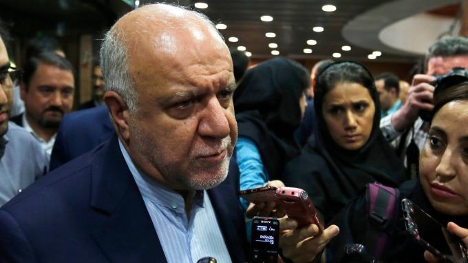 伊朗石油部長Bijan Namdar Zanganeh。(圖:AFP)