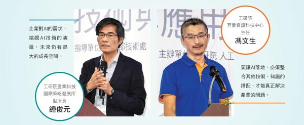工研院產業科技國際策略發展所副所長 鍾俊元(左),工研院巨量資訊科技中心主任 馮文生(右)。