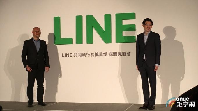 LINE台灣董事總經理陳立人(左)、LINE共同執行長暨企業文化長慎重熩(右)。(鉅亨網記者劉韋廷攝)