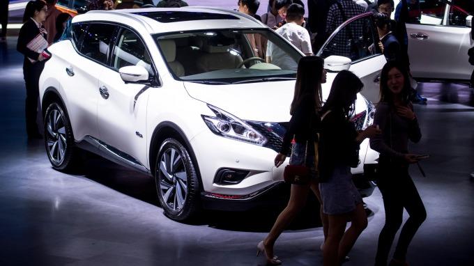 中國車市冷颼颼。(圖片:AFP)
