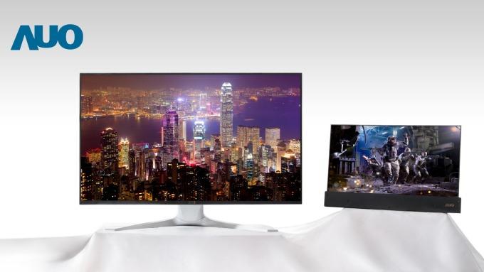 友達系列Mini LED背光顯示面板,涵蓋電競、VR、專業應用等領域。(友達提供)