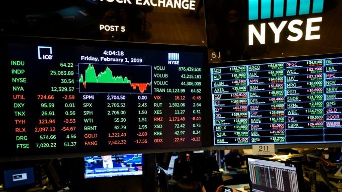 (圖片:AFP) 美國股市週二反彈收高