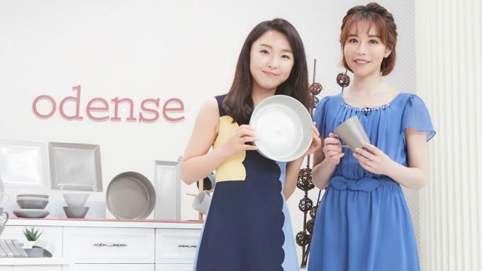 韓國CJ購物台購物專家金是妍和東森購物購物專家斯容共同銷售。(圖:東森購物提供)