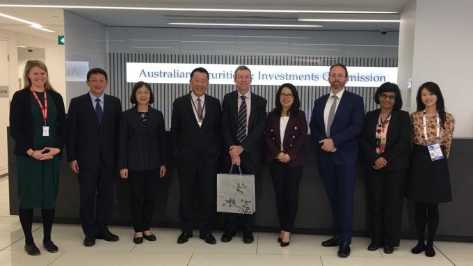 金管會主委顧主委昨日率團拜會IOSCO 年會主辦機關-澳洲證券與投資監管委員會。(圖:金管會提供)