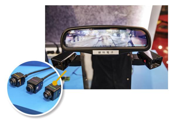 電子式後視鏡搭載了 AI 深度學習系統,開發出獨家的「全天候障礙物偵測功能」,等於為車輛安裝了大腦與眼睛。