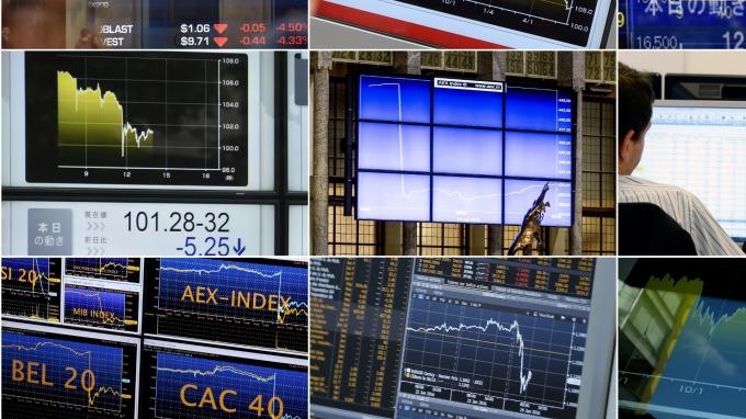 (圖片:AFP) 歐洲股市週一收低