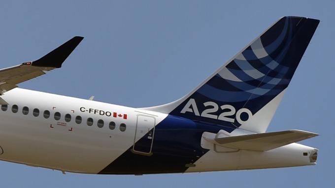 改良版空中巴士A220,大幅延長飛航距離。(圖片:AFP)