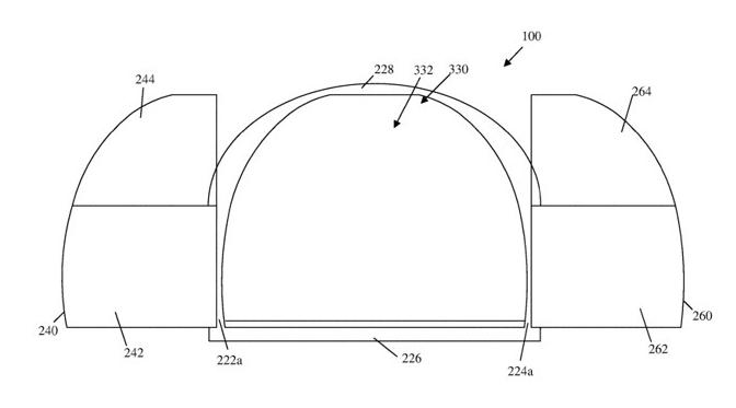 蘋果在 2019 專利申請部分設計圖 (圖片: appleinsider)