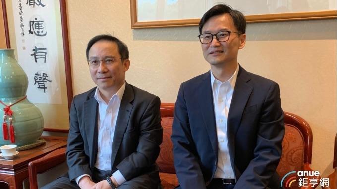 左起為永大董事長許作名、總經理蔡尚育。(鉅亨網記者林薏茹攝)