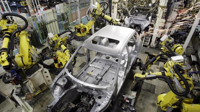 2019日本產業機器人訂單金額可能跌破1兆日圓。 (圖片:AFP)