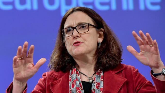 歐洲首席貿易談判代表Cecilia Malmstrom(圖片:AFP)