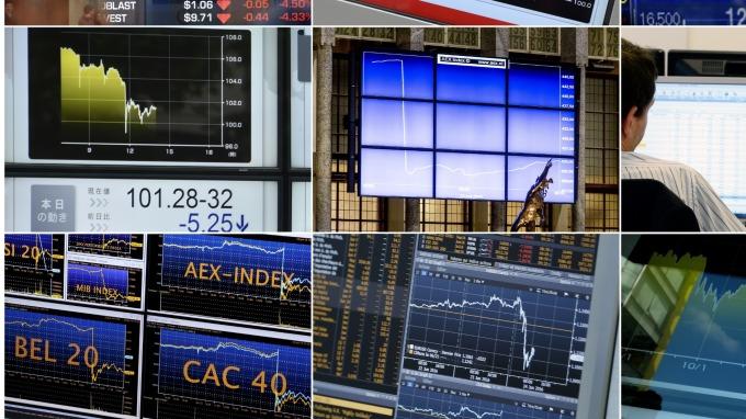 (圖片:AFP) 歐洲股市週四大幅收低
