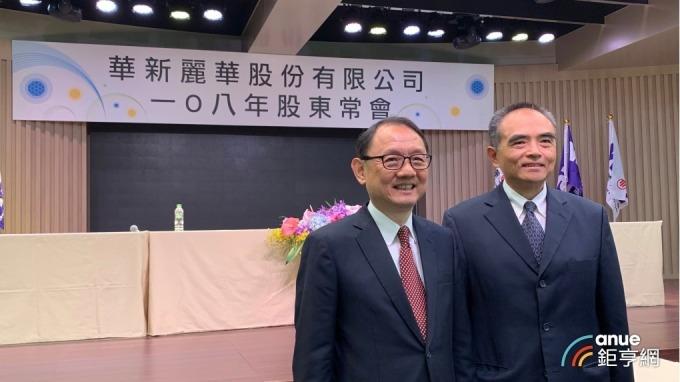 華新麗華今(24)日召開股東會,左為董事長焦佑倫、右為總經理鄭慧明。(鉅亨網記者林薏茹攝)