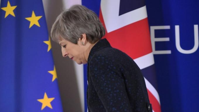 英國首相梅伊宣布,將於6月7日辭職下台。(圖片:AFP)