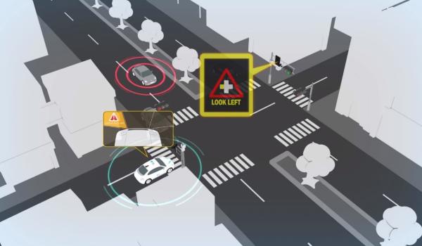 汽車雷達常因路口建築物或其他車輛造成偵測盲點,因此必須仰賴路上的雷達或光達感測器站在制高點以偵測路口動態,擴充駕駛者的可防護範圍。
