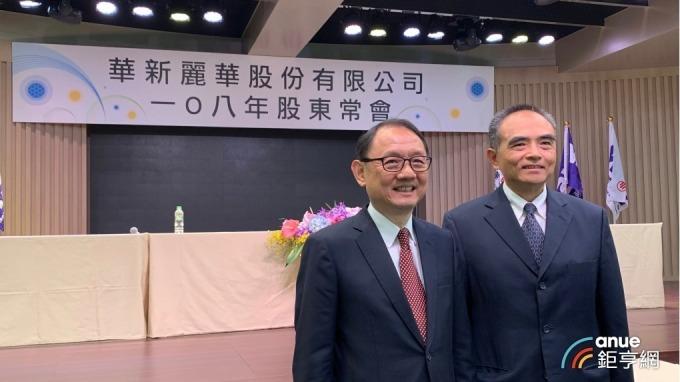 左起為華新董事長焦佑倫、總經理鄭慧明。(鉅亨網資料照)