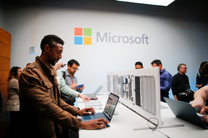 微軟表現優於新創企業。(圖:AFP)