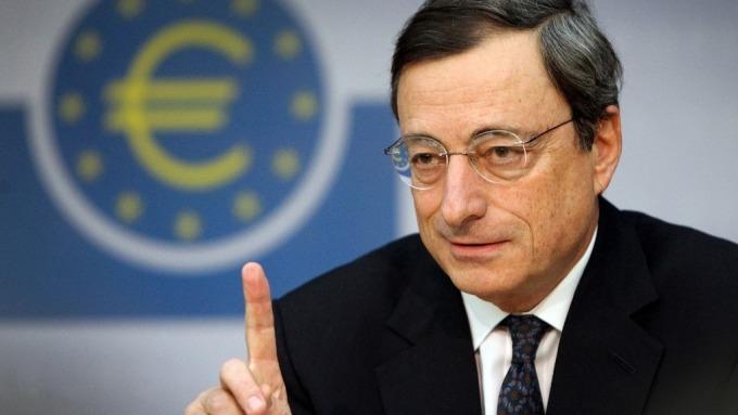 歐洲央行總裁德拉吉。(圖片:AFP)