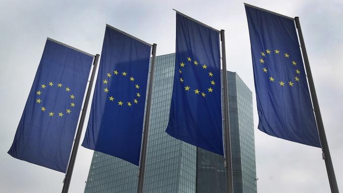 歐洲央行維持三大基準利率不變。(圖片:AFP)
