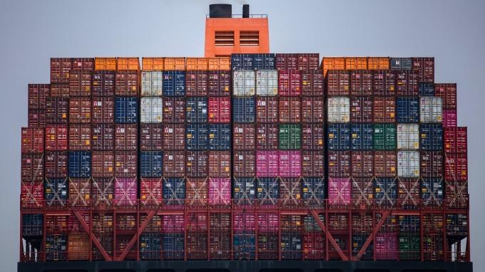 中國商品標籤「越南製造」銷往美國(圖片:AFP)