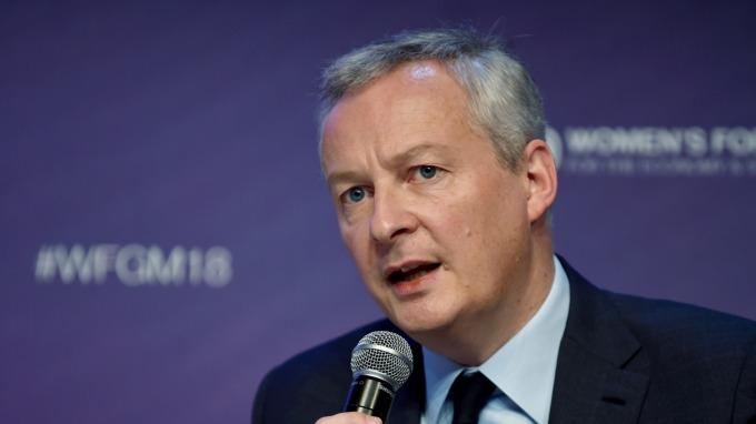 法國財政部長勒梅爾  (圖片:AFP)