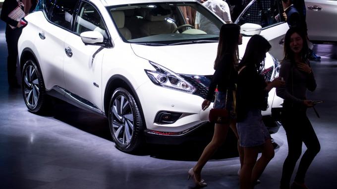 中國5月汽車銷量年減逾12%,連續第12個月衰退。(圖片:AFP)