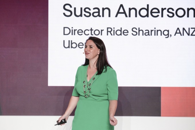 Uber選中澳洲墨爾本、作為空中計程車的海外前哨市場。圖為Uber紐澳及北亞洲市場的總經理Susan Anderson (圖片:AFP)