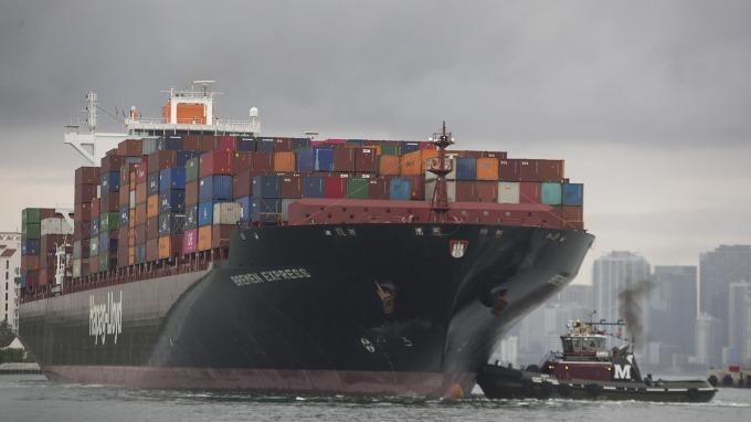 貿易戰干擾 美最大貿易港口5月份集裝箱數下跌6%(圖片:AFP)