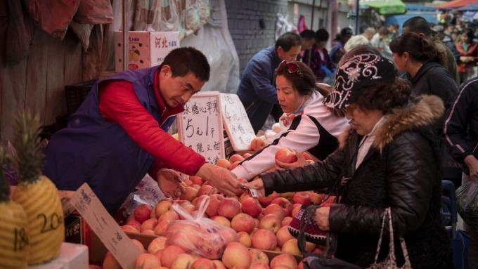 蘋果價格飆漲引北京當局關心 但預計漲勢不會持久(圖片:AFP)