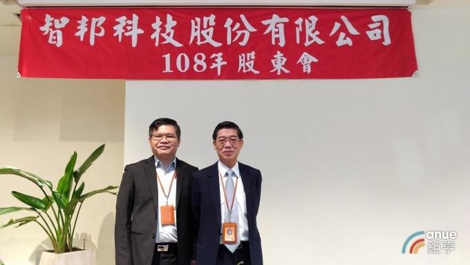 圖右為智邦董事長郭飛龍,左為總經理李志強。(鉅亨網資料照)