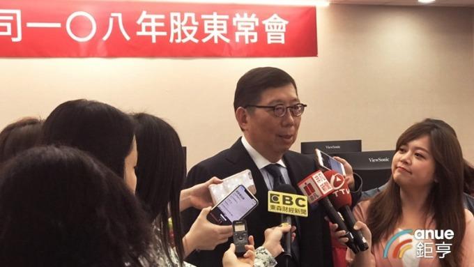 談香港反送中,富邦金董事長蔡明興表示,港幣隔夜拆跳上來很多,關注資金匯出壓力。(鉅亨網記者陳蕙綾攝)