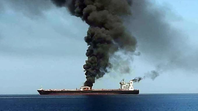 美國指控,油輪遇襲事件,是伊朗所為。(圖片:AFP)
