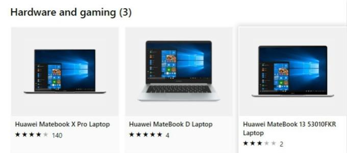 華為筆電重返微軟網路商城。(圖片:翻攝微軟網路商城。)
