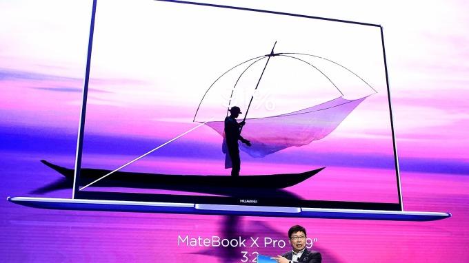 華為筆電產品自微軟網路商城「神秘下架」近一個月。(圖片:AFP)