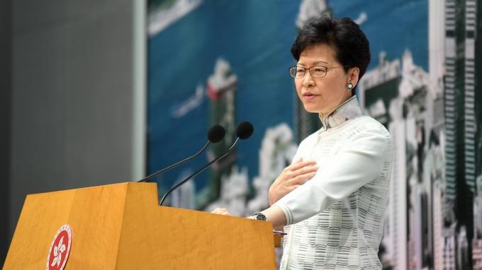 香港特首林鄭月娥(圖片:AFP)