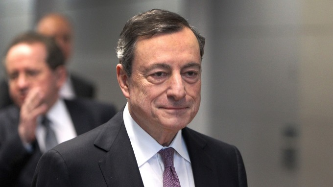 歐洲央行 (ECB)總裁德拉吉。(圖片:AFP)