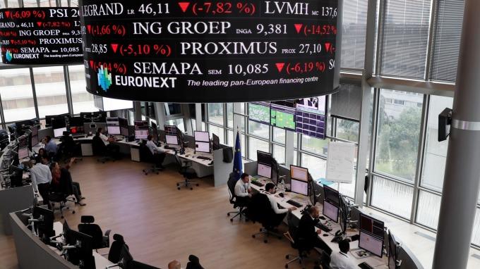 歐股盤後─德拉吉談話利多 泛歐指數收高1.67% (圖片:AFP)
