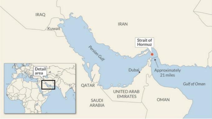 荷姆茲海峽上空,美方軍用無人機早遭到伊朗擊落。(圖片:翻攝 marketwatch)