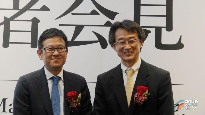 三井不動產董事長下町一郎與台灣松下營造董事長大塚弘(右)。(鉅亨網記者張欽發攝)